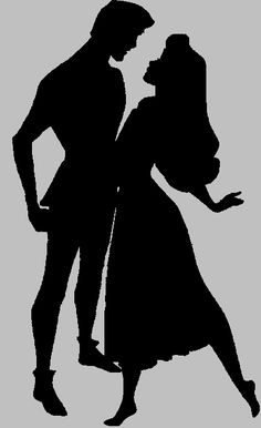 Sleeping beauty silhouette - Aurora and Phillip