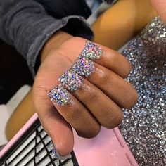 Bling Acrylic Nails, Best Acrylic Nails, Bling Nails, Coffin Nails, Birthday Nail Designs, Birthday Nails, Nail Designs Bling, Toe Designs, French Tip Gel Nails