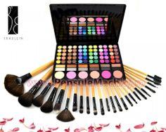 Trusa Farduri 78 culori cu blush Fraulein38 neutre + 24 pensule machiaj lemn lacuit Eyeshadow, Beauty, Neutral, Eye Shadow, Eye Shadows, Beauty Illustration