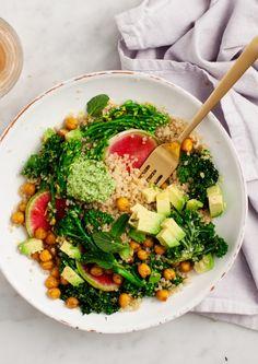 Spring Broccolini & Kale Quinoa Bowls Recipe