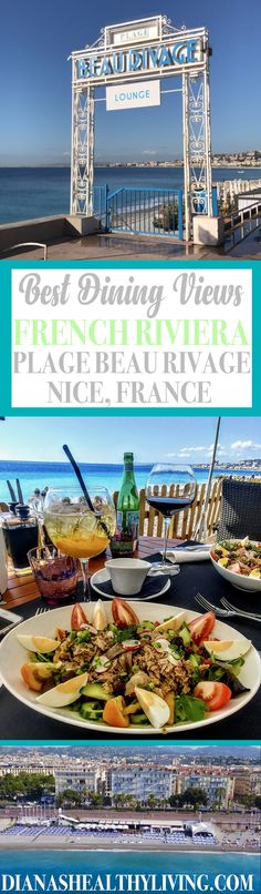 You'll be spoiled with views at the Plage Beau Rivage restaurant in Nice, France. Be sure to add this to your Nice itinerary! #nice #france ***** France destinations | France travel | France food | France restaurant | Where to eat in France | Where to eat in Nice | Nice restaurants | Things to do in Nice