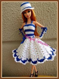 #Doll #Crochet #Vestido #Dress #Barbie #Muñeca #RaquelGaucha