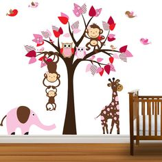 Vinyl Wall Decal Nursery Tree Decal Owl Tree by NurseryDecals, $109.99