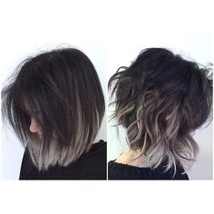 Inspiring black and grey, white ombre hairstyles for women with hair extensions. Ombre and balayage ideas for long or short hair. Blonde Ombre Hair, Ombre Hair Color, Purple Ombre, Balayage Hair, Hair Colour, Short Balayage, Gray Ombre, Blonde Brunette, Short Hair Colors