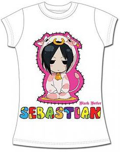 Black Butler T-Shirt - Sebastian Cow Cosplay