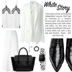 Inspiration: White Story   Look, fashion, style, stella mccartney, chloe, shoes Lacy Tops, Chloe Shoes, White Suits, Independent Women, Wearing Black, Stella Mccartney, Ideias Fashion, High Heels, Stylists