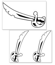 Printable Pirate Hook Cut Outs from PrintableTreats.com