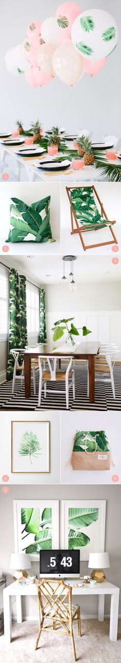 What Men Really Think of Our Favorite Décor Trends Banana leaves - pflanzen f amp uuml r badezimmer