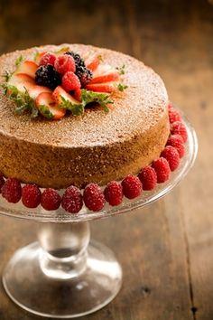 *Grandma Paul's Sour Cream Pound Cake from Paula Deen