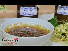 Reteta de Dulceata de Flori de Soc - YouTube Oatmeal, Deserts, Pudding, Herbs, Make It Yourself, Breakfast, Gem, Youtube, Medical