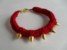 Spike Bracelet by MaparimCrochet on Etsy, €8.00