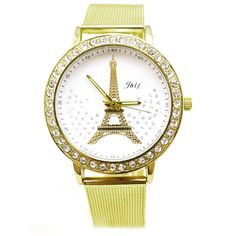 >> Click to Buy << Hot Fashion Drop Shipping  Women Ladies Crystal Tower Gold Stainless Steel Mesh Band Wrist Watch  Drop Shipping Jun28 #Affiliate