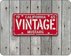 VINTAGE License Plate Sign