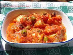 secondi di pesce - baccalà alle olive