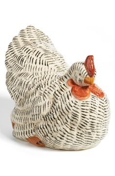 A chicken in the kitchen symbolizes good luck, prosperity and health.