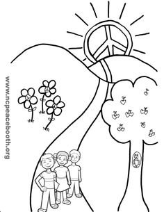 peace on earth Colouring Pages, Printable Coloring Pages, Coloring Sheets, Coloring Books, 28th October, Images And Words, Peace On Earth, Autumn Activities, Sunday School