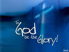 Who wouldn't want to give the glory to such an awesome God?