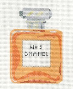 Labors of Love ~ CHANEL No. 5 ~ Perfume Bottle handpainted Needlepoint Canvas