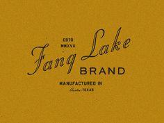 Fang Lake Lockup Yellow by Andrew A Jennings - Dribbble