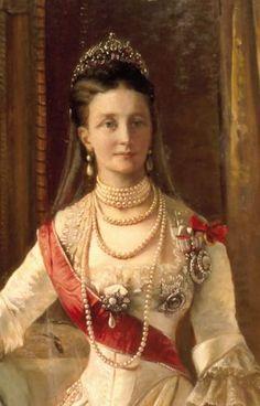 "Queen Louise consort of Christian IX of Denmark. Mother of TSARINA MARIA FEODOROVNA.  TSAR NICHOLAS II""s grandmother."