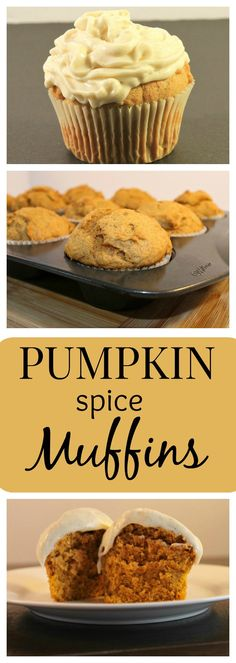 A delicious and easy Pumpkin Muffin Recipe with a flavorful Spiced Cream Cheese Frosting - a PERFECT treat with the cooler days ahead!