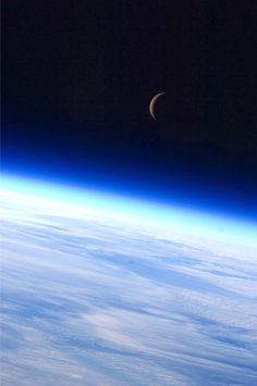 "stenka-razin: ""just–space: ""Earth and Moon by Expedition 24 crew member js"" """