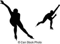two women speed skaters Black Silhouette, Woman Silhouette, Athletic Women, Women Athletes, Maze, Sports, Scrapbook, Skating, Sport
