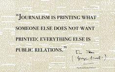 journalism is...