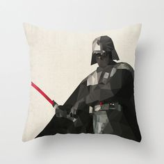 Star Wars Pillow Cushion Covers with Polygon Style Character Illustrations