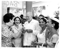 Ernest Hemingway celebrates his Nobel Prize in 1954 with a daiquiri