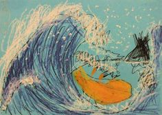 Great Waves inspired by Hokusai