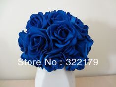 100X Artificial Flowers Royal Blue Roses For Bridal Bouquet Wedding Bouquet Wedding Decor Arrangement Centerpiece Wholesale Lots on AliExpress.com. $15.99