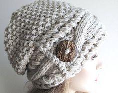 Slouchy Beanie sombrero de Slouch de gran tamaño holgado boina