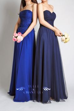 lace and tulle blue bridesmaid dresses 2015 #bridesmaiddresses