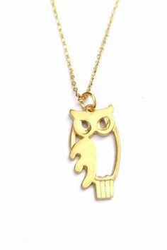 Owl necklace Pinned by www.myowlbarn.com