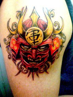 Shogun mask tattoo