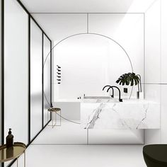 """Wow... what a mirror!!! Bathroom magic by @emildervish via @neutralinstinct"""