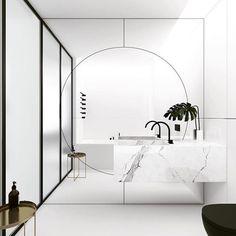 """Wow... what a mirror!!! Bathroom magic by @emildervish via @neutralinstinct"""