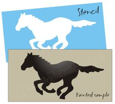 Primitive-Horse-STENCIL-Running-Wild-Mustang-Pony-Cowboy-Western-Rodeo-Trail-art