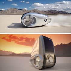 Drive & Live Off Grid: Convertible Mobile Caravan Concept - three-wheeled Ecco a streamlined and transforming vehicles for dwelling  in. Emission-free and fully-electric vehicle can juice up just like its Tesla cousins, but can also use photovoltaics and solar sails to recharge well off the beaten path.