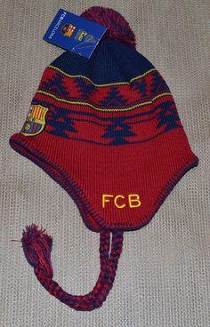 FC Barcelona Barca Gorro o Gorra Pom Pom Peruvian Beanie Knit Hat Cap   Rhinox   d77cd46a788