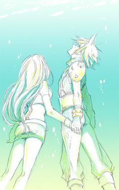 Cloud & Tifa (Final Fantasy VII) <3