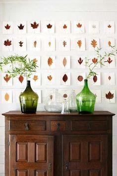 easy leaf wall art DIY // leaf // wall // art // diy // home // decor // wall decor // fall // autumn // leaves // Leaf Wall Art, Leaf Art, Farmhouse Interior, Home Interior, Autumn Interior, Interior Design, Texas Farmhouse, Autumn Leaves Craft, Fall Leaves