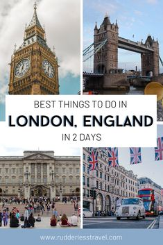 Heading to London and wondering what are the best things to do in London? Well this post has you covered for the ultimate list of things to do in this stunning city in just 2 days! Prepare for fun and adventure. #London #England #Travel