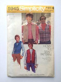 Vintage Sewing Pattern Men's 1970's Uncut by Freshandswanky