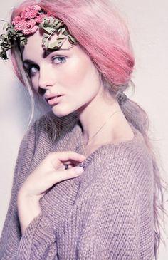 Purple And Green Hair, Green Hair Colors, Pink Purple, Hair Colours, Pink White, Pastel Hair, Pink Hair, Candy Hair, Lavender Hair