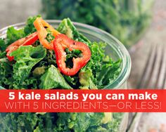 5 Kale Salads You Can Make with 5 Ingredients—Or Less!