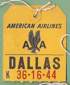 AA Dallas baggage tag