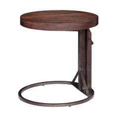 "Bronze Adjustable Side Table $398 Bronze Adjustable Side Table This adjustable Burnished Elm and Bronze finish side table can be raised or lowered with simple ease for flexibility in any space. (22""x22""x30""H). Weight 64lbs."
