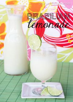 Creamy Brazilian Lemonade, the BEST drink in the world! (Sub condensed for coconut milk)